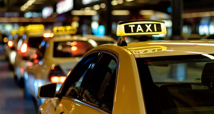 row of cabs
